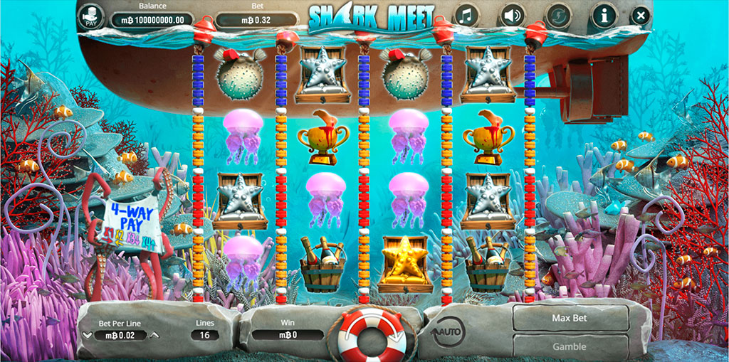 Shark Meet Slots - Play Booming Games Games for Fun Online